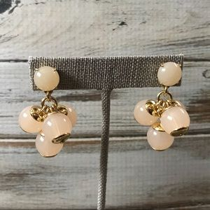 Pale blush and gold tone j crew pierced earrings